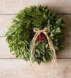 Bay Leaf with 3 Sets of Chilies Edible Wreath