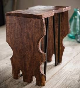 Recycled Wood Cut-Out Table