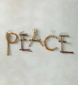 """Peace"" Twig Letter Art"