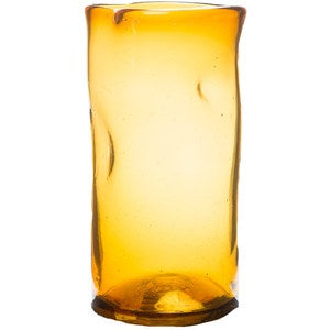 Slumped Recycled Glass Vase - Medium Amber