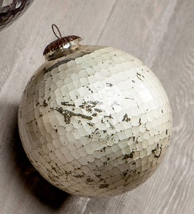 Dimpled Glass Ornaments
