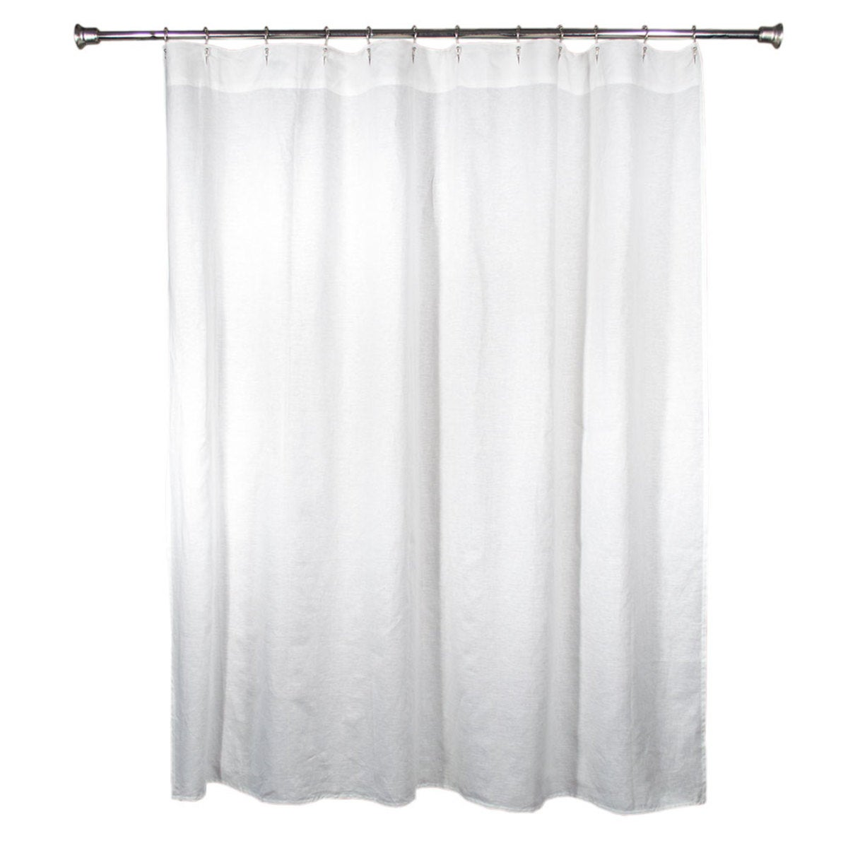 100% Pure Linen Shower Curtain - White