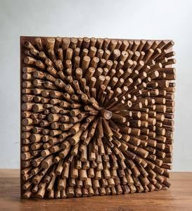 Optic Teak Single Burst Wall Art