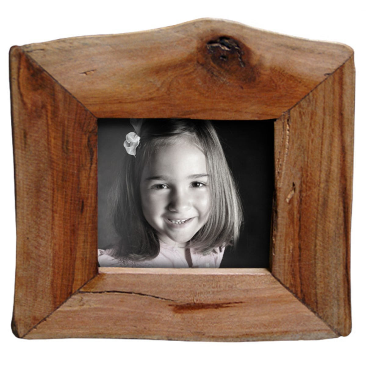 "Reclaimed Natural Wood Frame 3.5""x3.5"""