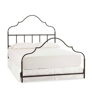 Iron Gustavian Queen Bed with Standard Delivery