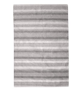 Handwoven Recycled Plastic Indoor/Outdoor Rug, 8' x 10' - Taupe Stripe
