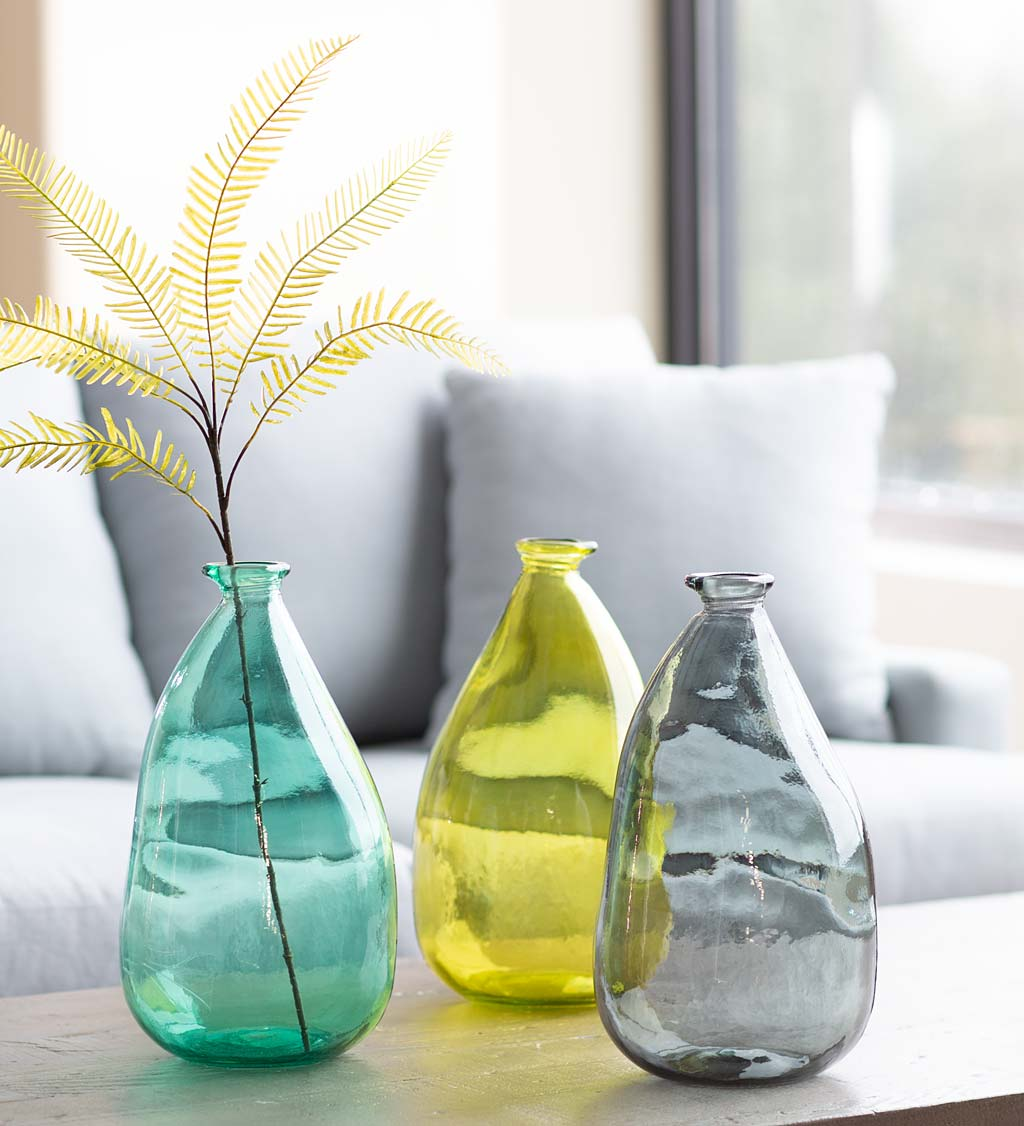 Oblong Recycled Glass Balloon Vase, 14""