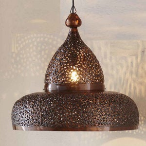 Moroccan Hanging Lamp - Open Bottom