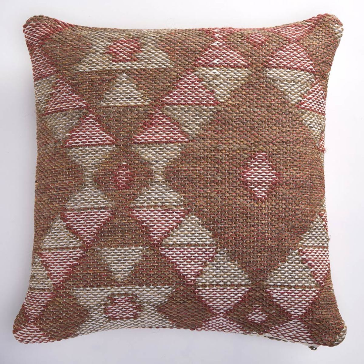 Reversible Indoor/Outdoor Diamond Pillow Cover - 18""