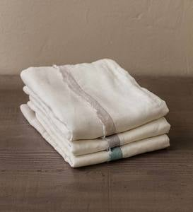 100% Linen Frayed Edge Design King Sheet Sets