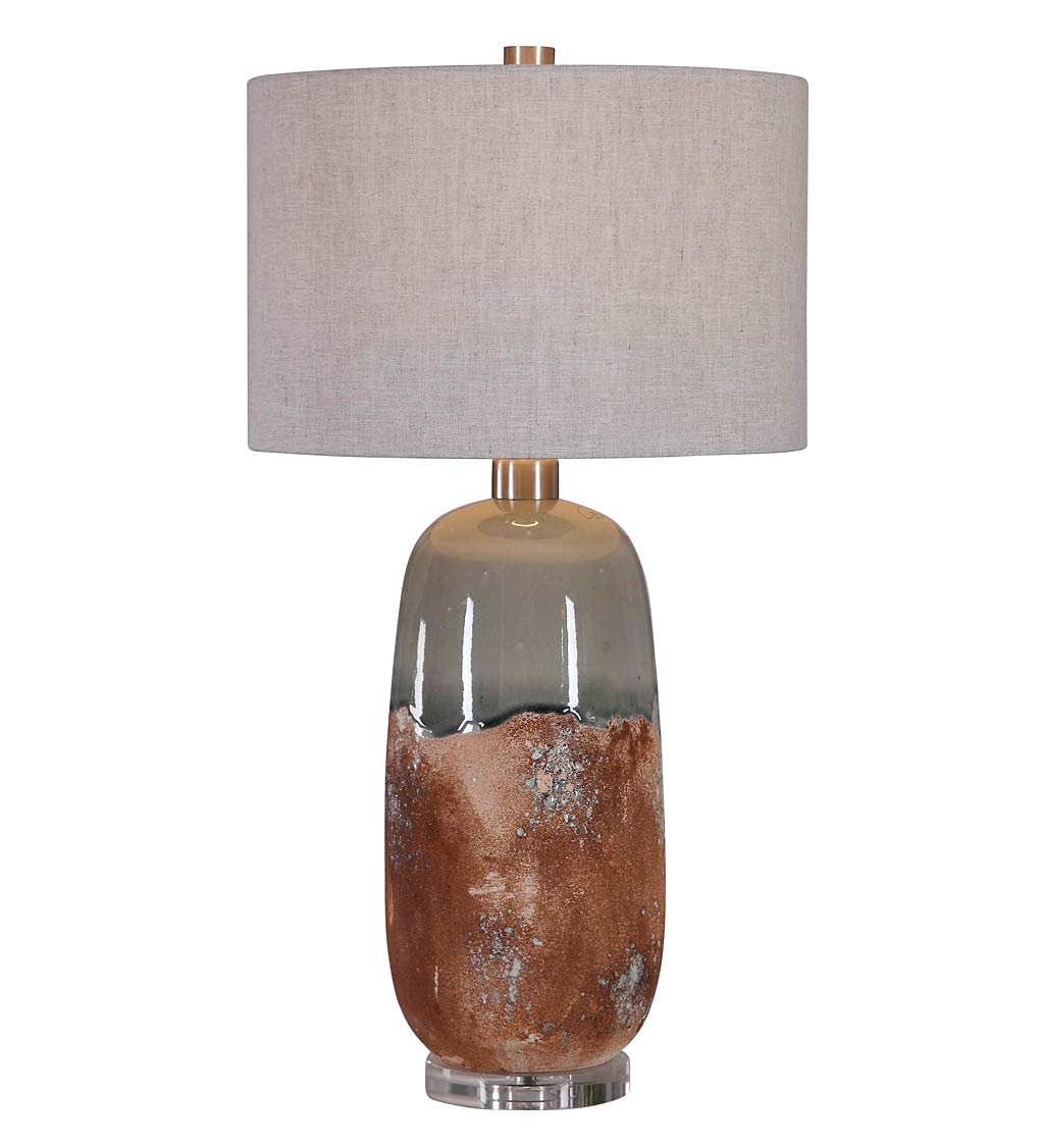 Terracotta Glazed Table Lamp