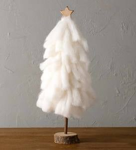 Fluffy Natural Goats Wool Tree Décor