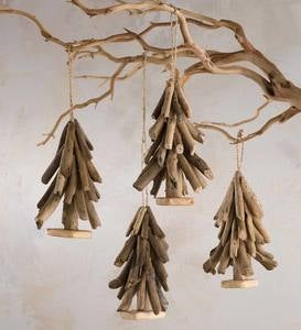 Driftwood Tree Ornament Set of 4