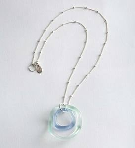 Recycled Wave Glass Necklace