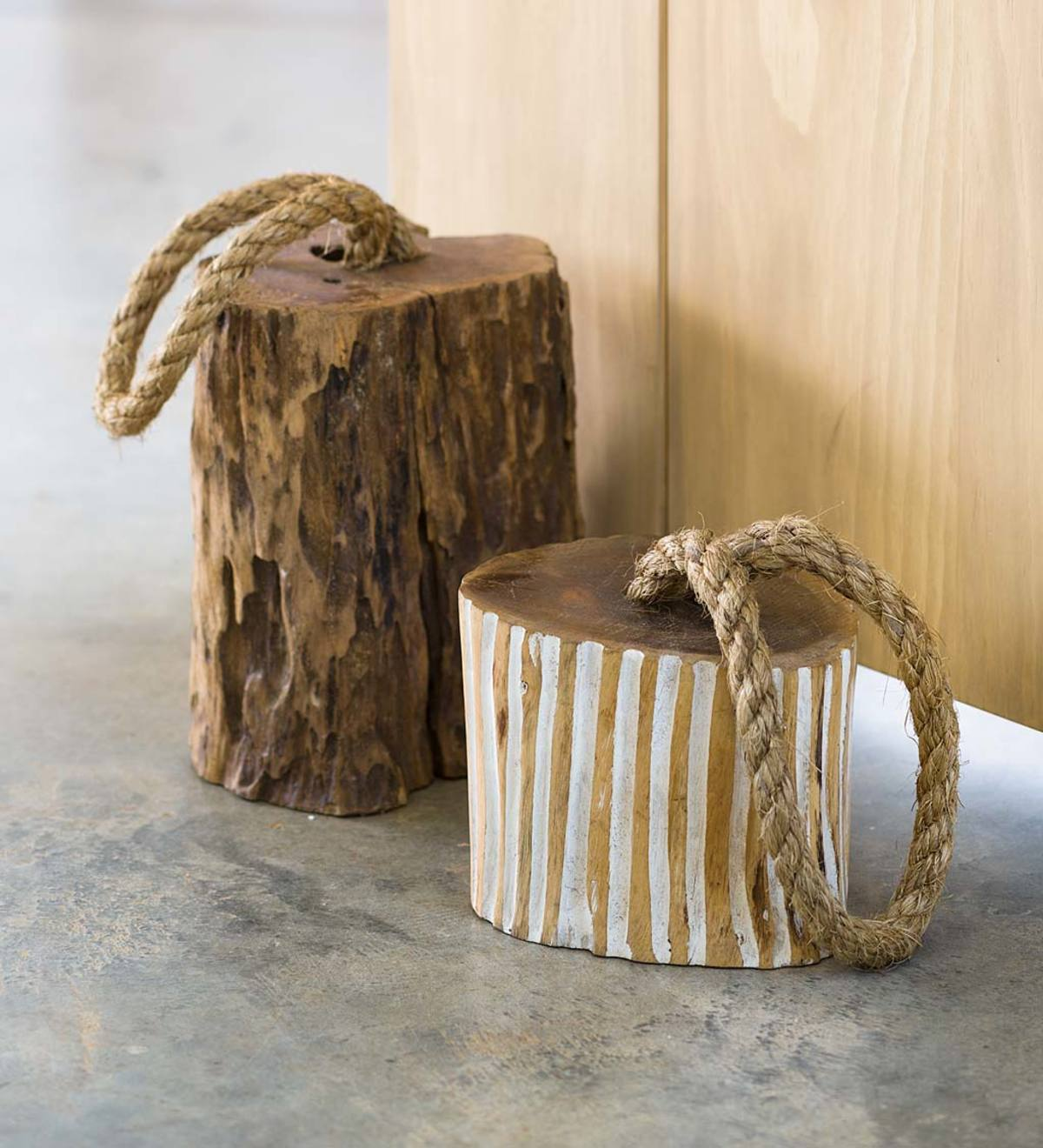 Carved Wood Doorstops