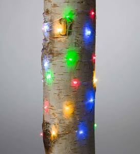40 Multicolor Bendable LED String Lights - Silver Wire