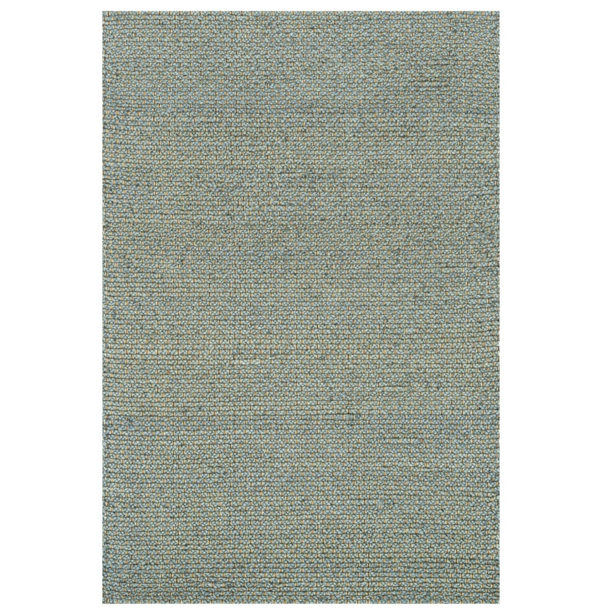 "Loloi Eco Checked Jute Rug in Black - 3'6"" x 5'6"" - Blue"