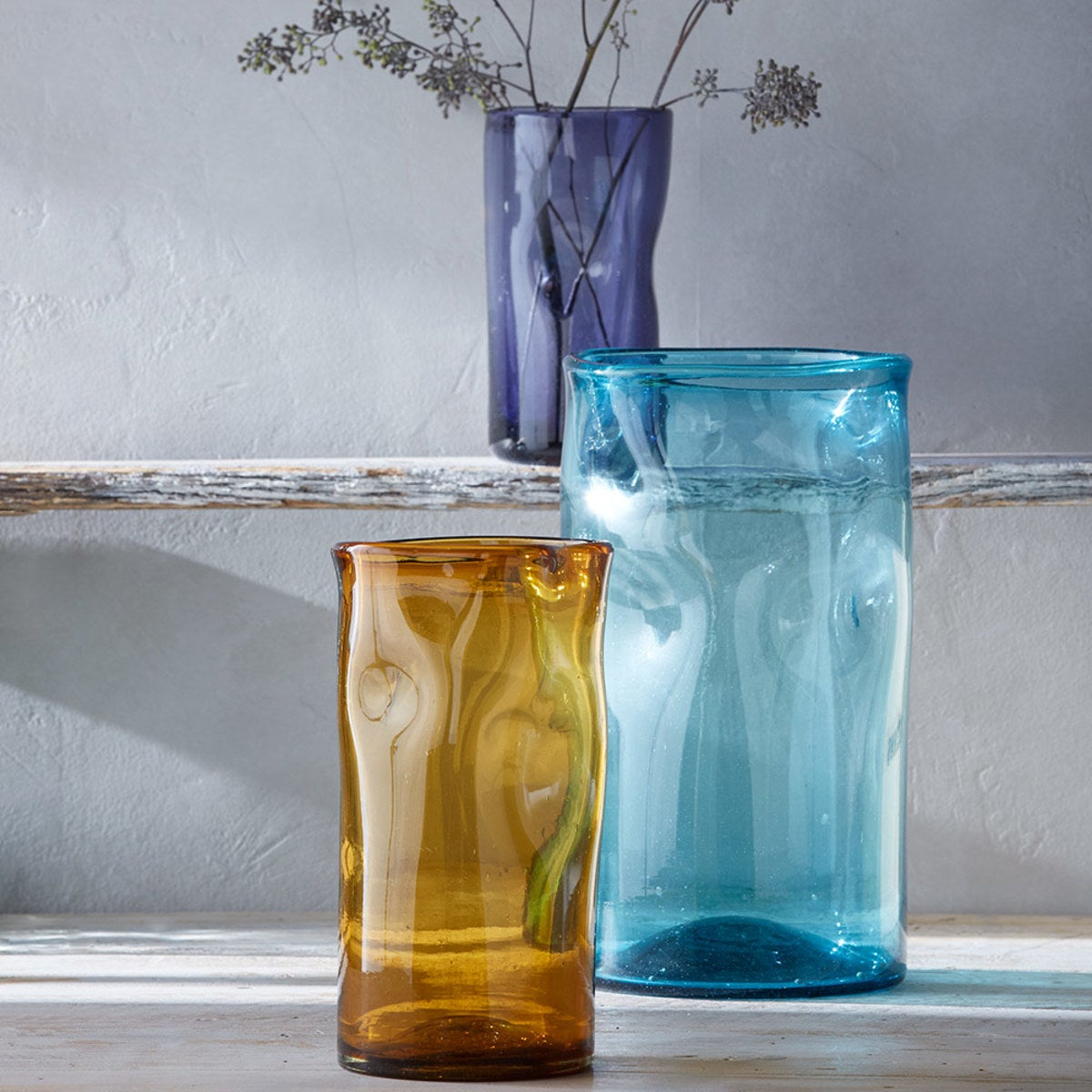 Slumped Recycled Glass Vases