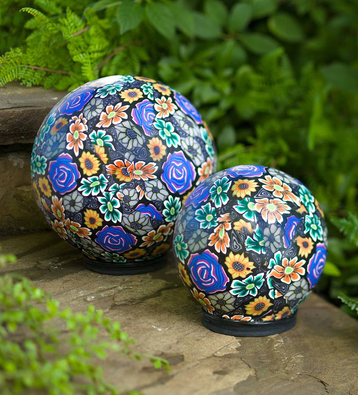 Clay Lighted Globes