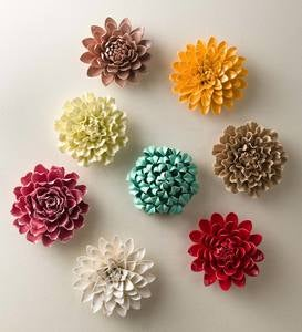 Ceramic Wall Flowers, 8""
