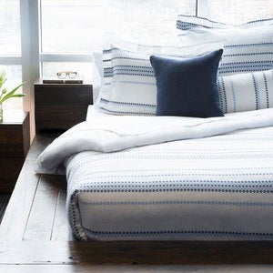 Santorini Diamond Organic Bedding Collection