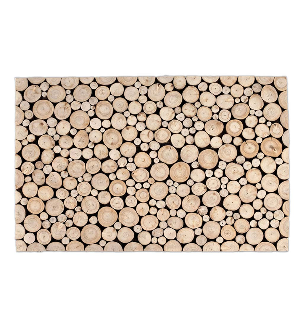 Teak Branch Slice Doormat