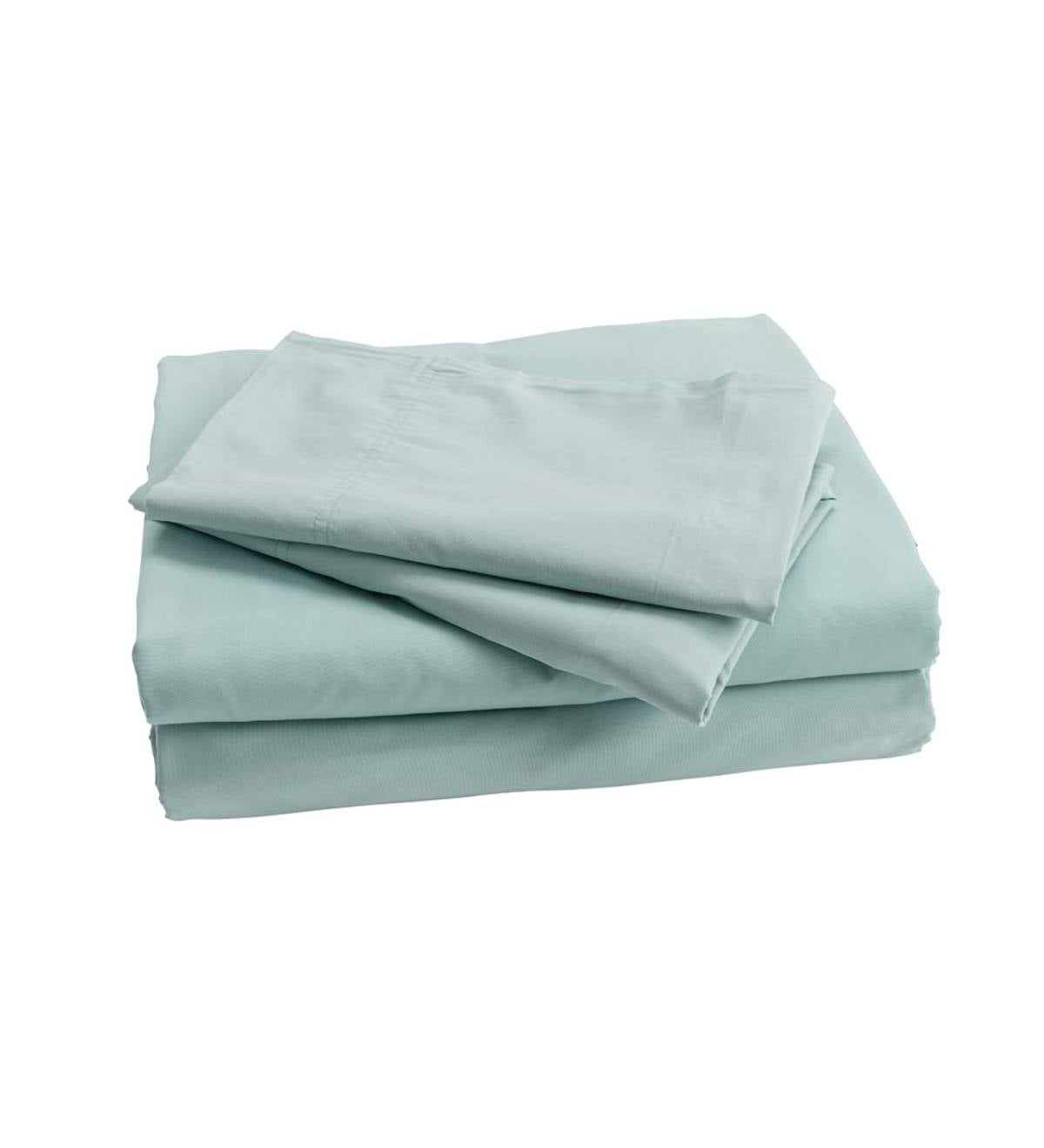 Classic Egyptian Cotton Queen Duvet Cover Set - Ether Blue
