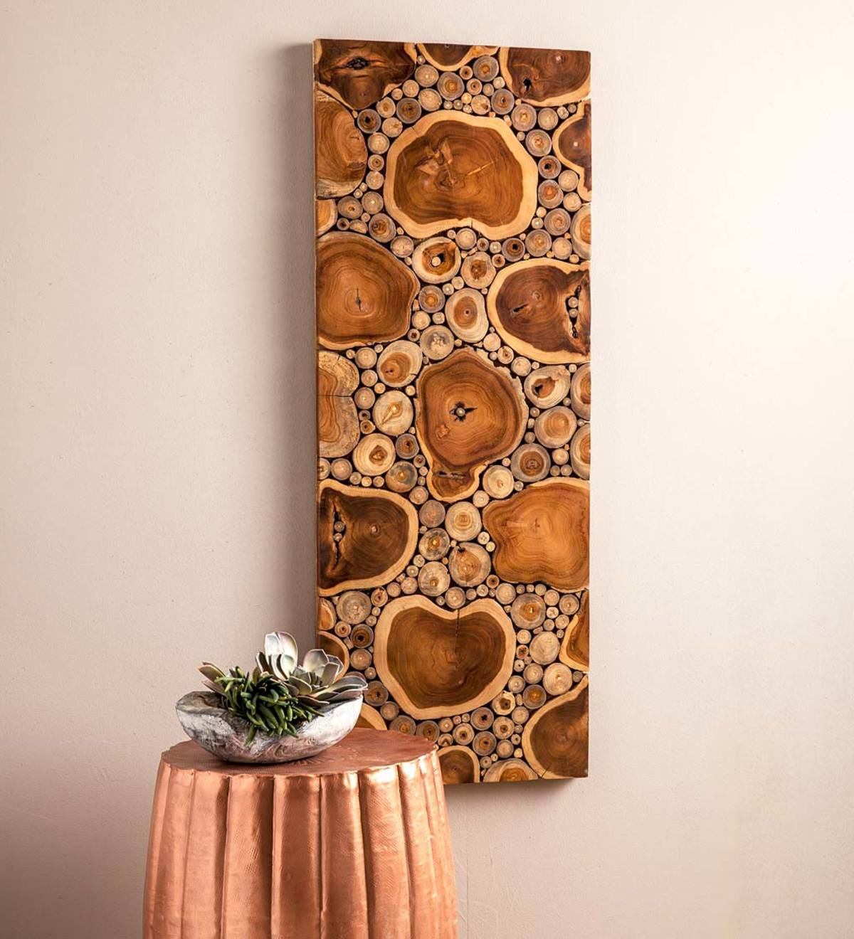 Sliced Teak Wood Panel Wall Art Wall D 233 Cor Home