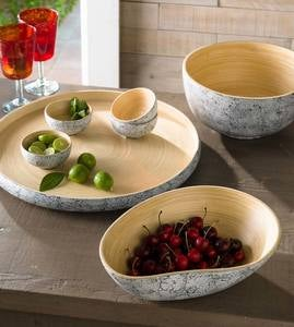 Egg Shell and Bamboo Serving Collection