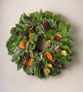 Quince and Pinecone Wreath 20