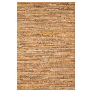 "Loloi Edge Leather & Jute Rug in Brown - 3'6"" x 5'6""  - Brown"