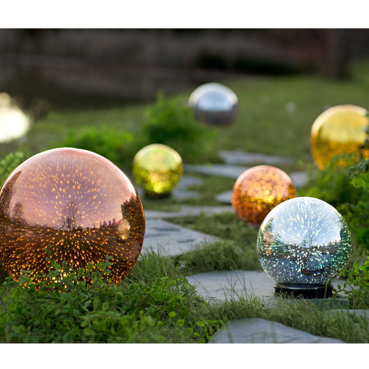 Mercury Glass Gazing Balls
