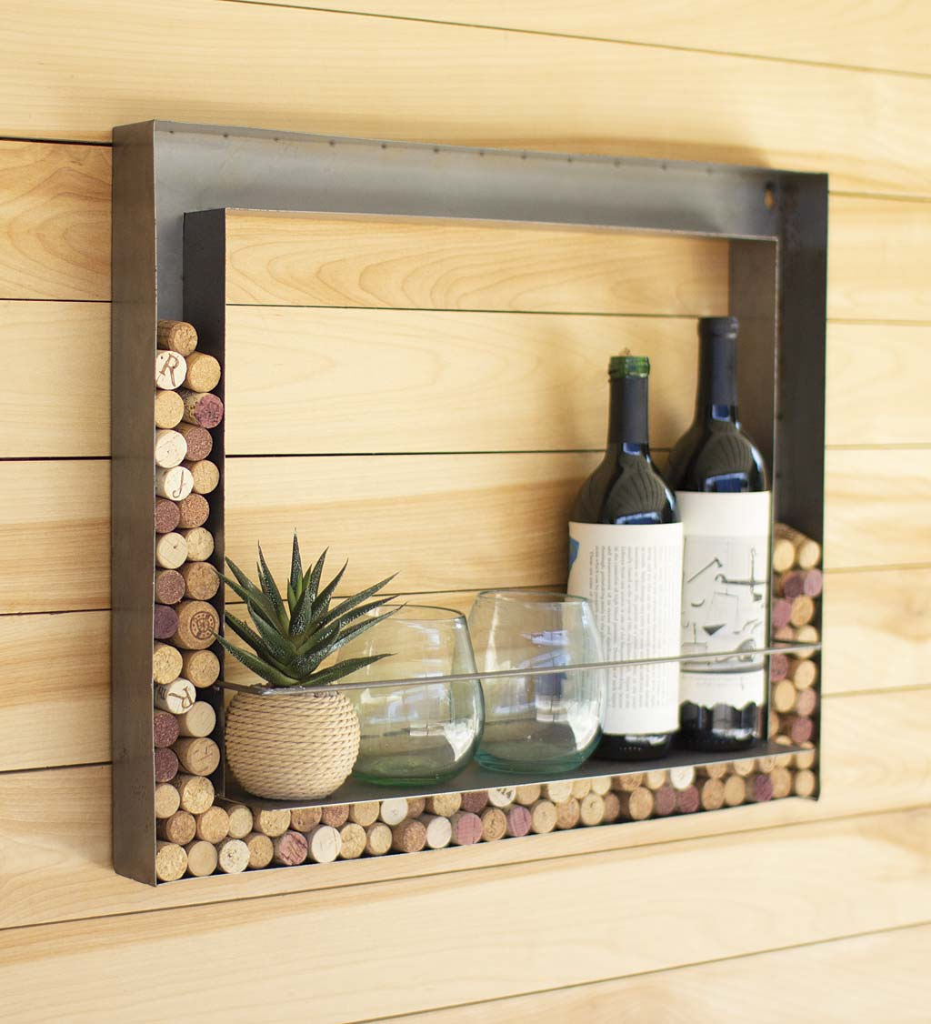 Wall Bar and Wine Cork Holder