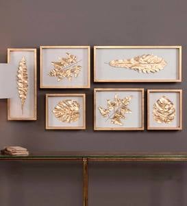 Golden Leaf Shadow Box Gallery Set