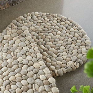 Felted Wool Pebble Rug - Round