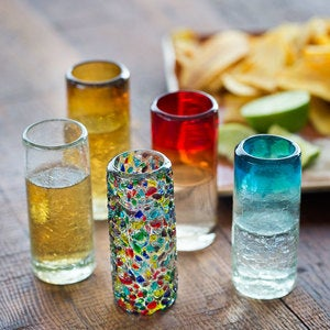 Confetti Recycled Shot Glass