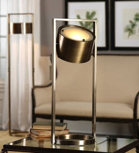 Ilario Brass Framed Cylindrical Lamp Collection