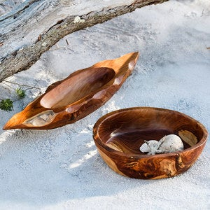 Indonesian Teak Wood Display Bowls