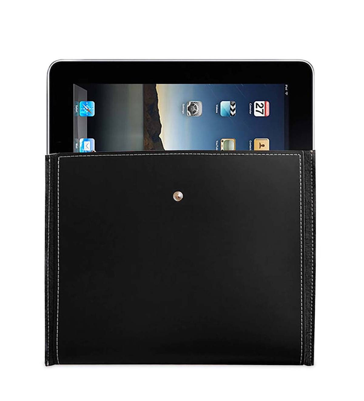 Recycled Leather iPad Case - Black