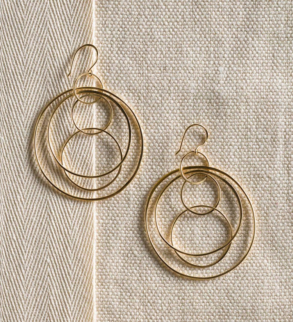 Concentric Circle Earrings - Gold