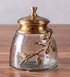 Cast Silver Branch Decanters and Canisters