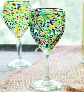 Confetti Wine Glass, Set of 4