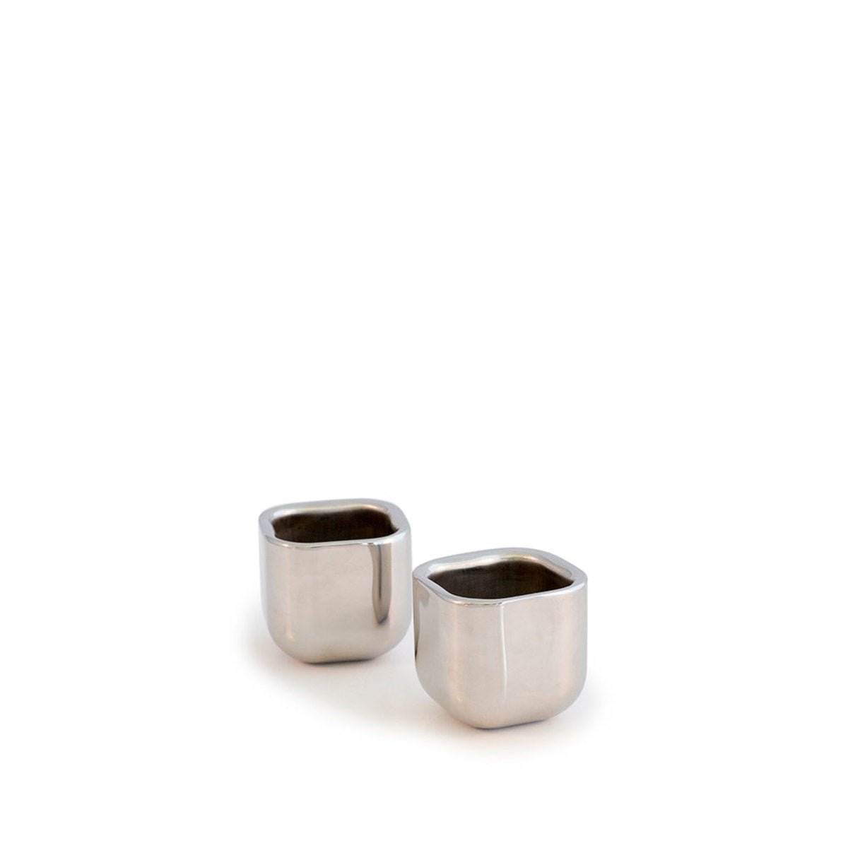 Stainless Steel Square Shot Glass, Set of 2