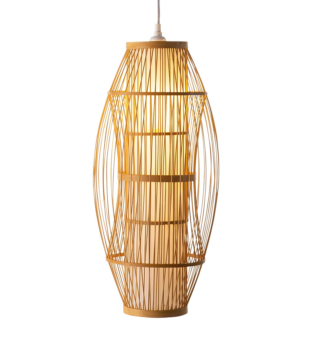 Bamboo Hanging Pendant Light