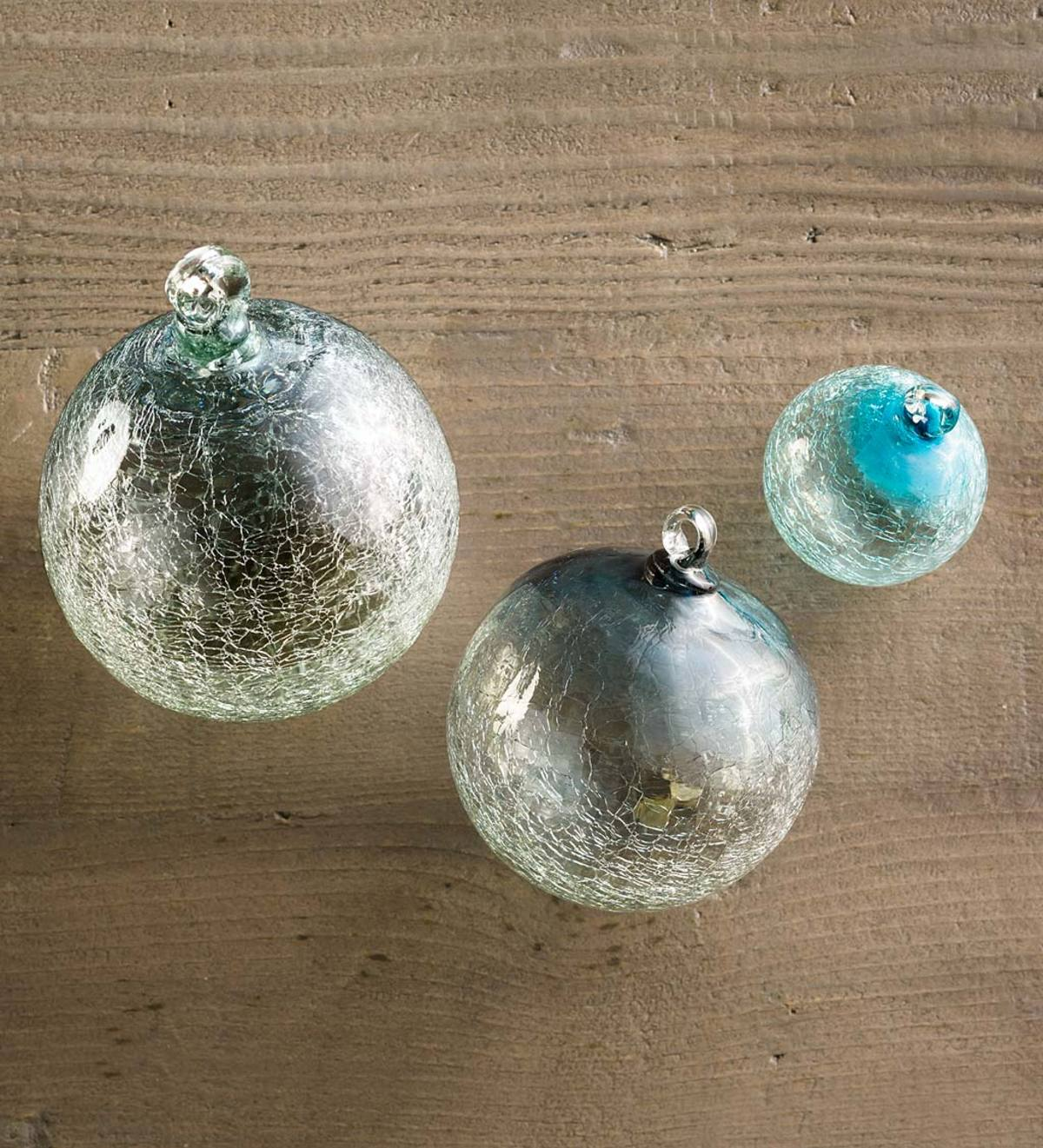 Maya Recycled Glass Sphere Ornaments