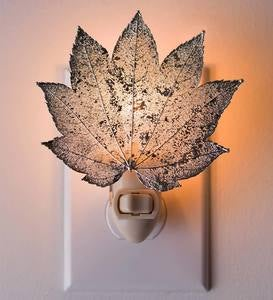 Silver Full Moon Maple Leaf Nightlight