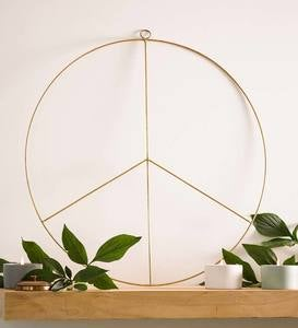 Metal Peace Wreath, 24""