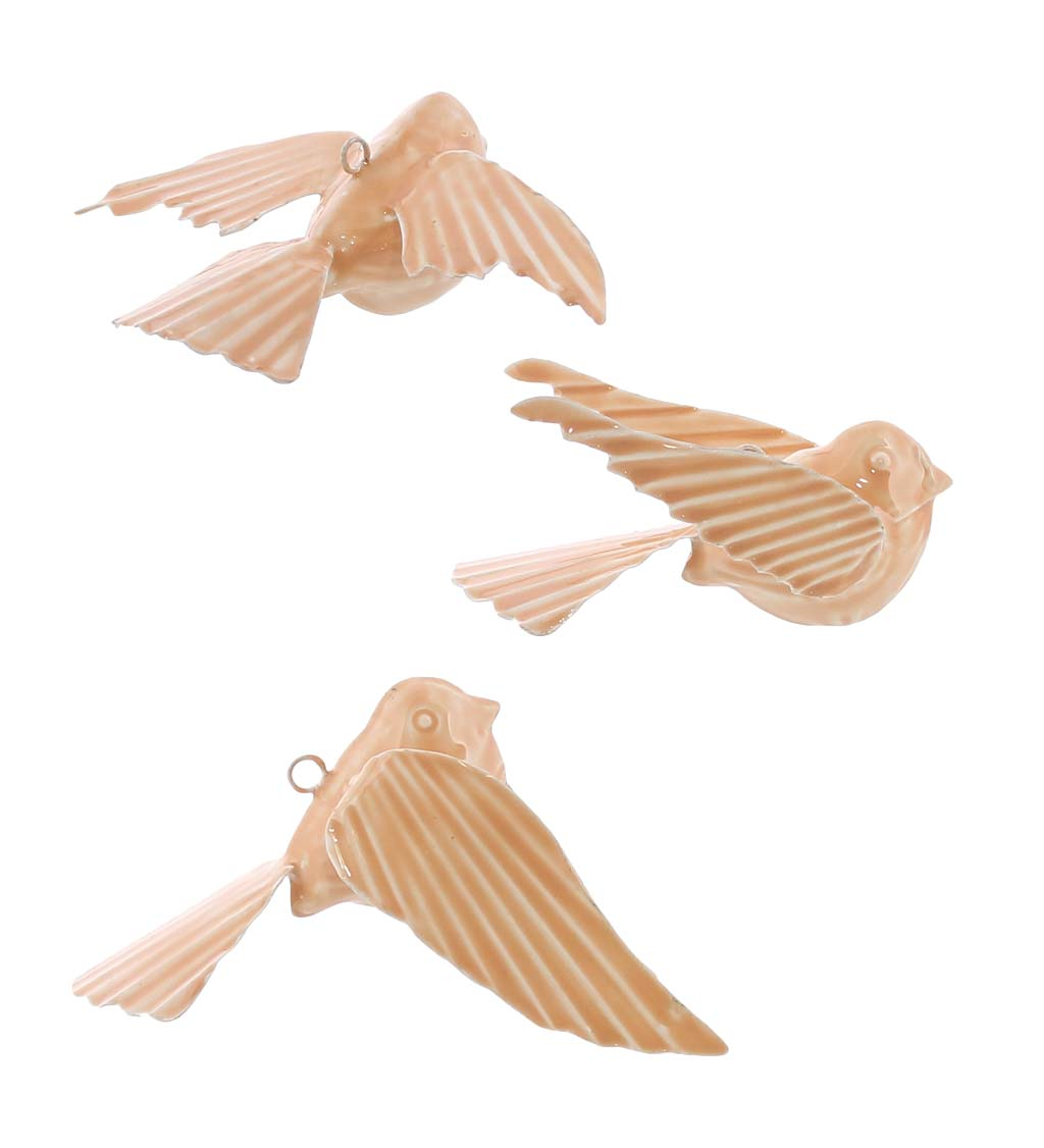Tilda Ceramic Hanging Birds, Set of 3