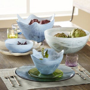Aurora Recycled Glass Bowls, Set of 6 - Clear