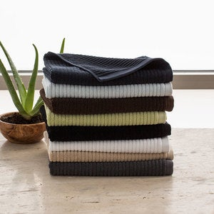 Organic Cotton Jacquard Rib Towel Collection